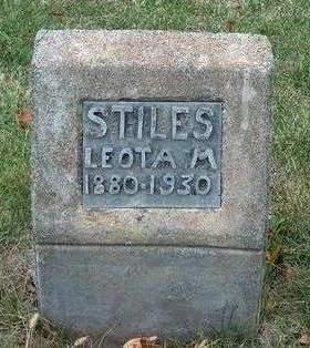 STILES, LEOTA MAY - Madison County, Iowa | LEOTA MAY STILES