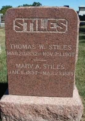 STOCKDALE STILES, MARY ANN - Madison County, Iowa | MARY ANN STOCKDALE STILES