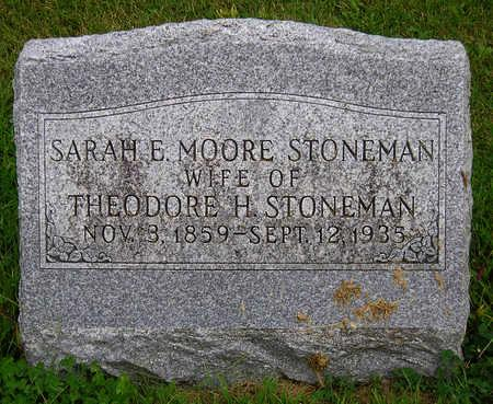 MOORE STONEMAN, SARAH E. - Madison County, Iowa | SARAH E. MOORE STONEMAN
