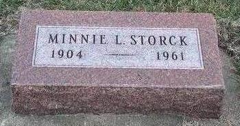 SECREST STORCK, MINNIE LEE - Madison County, Iowa | MINNIE LEE SECREST STORCK