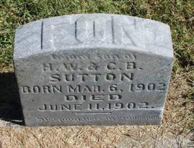 SUTTON, FON ANDREW - Madison County, Iowa   FON ANDREW SUTTON