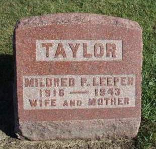 LEEPER TAYLOR, MILDRED PAULINE - Madison County, Iowa | MILDRED PAULINE LEEPER TAYLOR