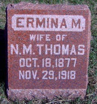 THOMAS, ERMINA M. - Madison County, Iowa | ERMINA M. THOMAS