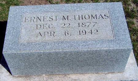THOMAS, ERNEST M. - Madison County, Iowa | ERNEST M. THOMAS