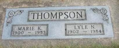 THOMPSON, MARIE KATHERINE - Madison County, Iowa | MARIE KATHERINE THOMPSON