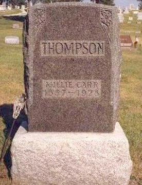CARR THOMPSON, MARY MELISSA (MILLIE) - Madison County, Iowa | MARY MELISSA (MILLIE) CARR THOMPSON