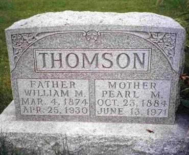 THOMSON, PEARL MILDRED - Madison County, Iowa | PEARL MILDRED THOMSON