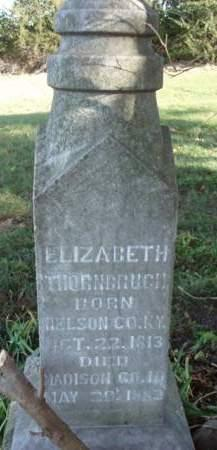THORNBRUGH, ELIZABETH - Madison County, Iowa | ELIZABETH THORNBRUGH