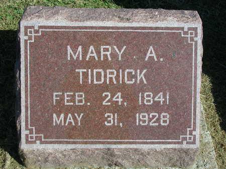 TIDRICK FISHER, MARY A. - Madison County, Iowa | MARY A. TIDRICK FISHER