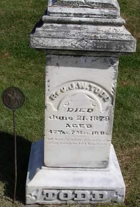 TODD, JOHN WESLEY (REV.) - Madison County, Iowa | JOHN WESLEY (REV.) TODD
