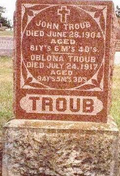 TROUB, JOHN - Madison County, Iowa | JOHN TROUB