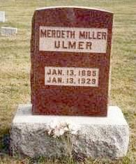 MILLER ULMER, OLIVE MERDETH - Madison County, Iowa | OLIVE MERDETH MILLER ULMER