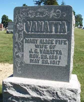 FIFE VANATTA, MARY ALICE - Madison County, Iowa | MARY ALICE FIFE VANATTA