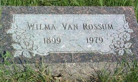 VAN ROSSUM, WILMA - Madison County, Iowa | WILMA VAN ROSSUM