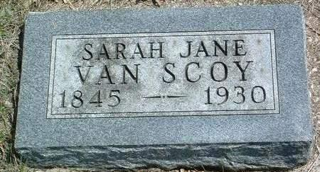 VAN SCOY, SARAH JANE - Madison County, Iowa | SARAH JANE VAN SCOY