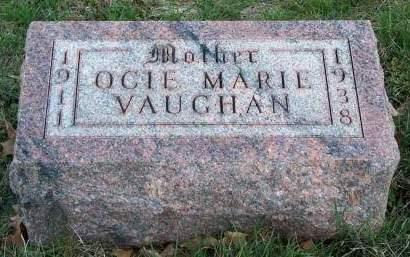 VAUGHAN, OCIE MARIE - Madison County, Iowa | OCIE MARIE VAUGHAN