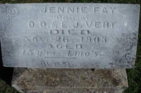 VERT, JENNIE FAY - Madison County, Iowa | JENNIE FAY VERT