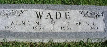 WADE, LARUE L. (DR.) - Madison County, Iowa | LARUE L. (DR.) WADE