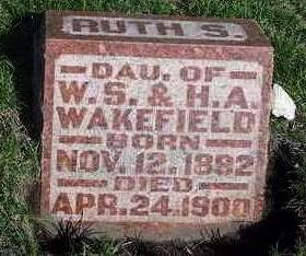 WAKEFIELD, RUTH S. - Madison County, Iowa | RUTH S. WAKEFIELD