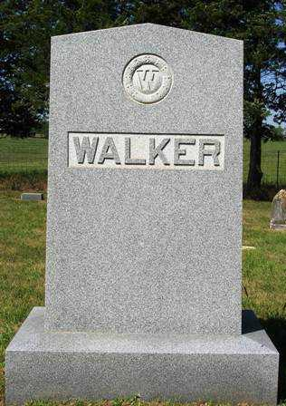 WALKER, FAMILY HEADSTONE - Madison County, Iowa | FAMILY HEADSTONE WALKER