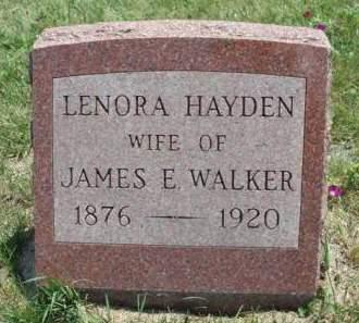 WALKER, LENORA ELIZA (NORA) - Madison County, Iowa   LENORA ELIZA (NORA) WALKER