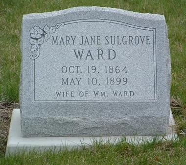 SULGROVE WARD, MARY JANE - Madison County, Iowa | MARY JANE SULGROVE WARD