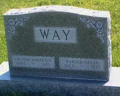 WAY, HAROLD CASON - Madison County, Iowa | HAROLD CASON WAY