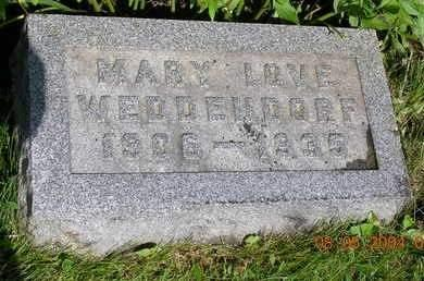 LOVE WEDDENDORF, MARY BELLE - Madison County, Iowa | MARY BELLE LOVE WEDDENDORF
