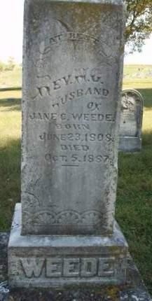 WEEDE, NATHANIEL COOPER (REV.) - Madison County, Iowa   NATHANIEL COOPER (REV.) WEEDE