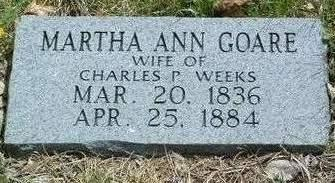 WEEKS, MARTHA ANN - Madison County, Iowa | MARTHA ANN WEEKS