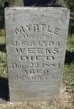 WEEKS, MYRTLE - Madison County, Iowa | MYRTLE WEEKS