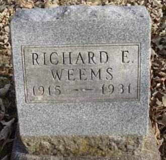 WEEMS, RICHARD E. - Madison County, Iowa | RICHARD E. WEEMS