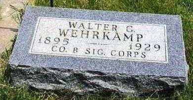 WEHRKAMP, WALTER GEORGE - Madison County, Iowa | WALTER GEORGE WEHRKAMP