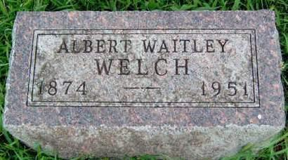 WELCH, ALBERT WAITLEY - Madison County, Iowa | ALBERT WAITLEY WELCH
