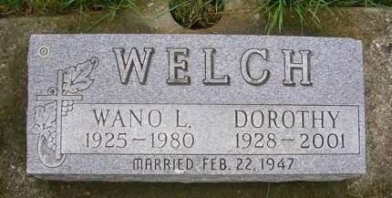 WELCH, DOROTHY JANE - Madison County, Iowa | DOROTHY JANE WELCH