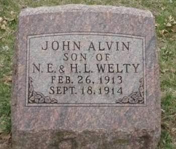 WELTY, JOHN ALVIN - Madison County, Iowa | JOHN ALVIN WELTY