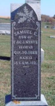 WERTS, SAMUEL EDWARD - Madison County, Iowa | SAMUEL EDWARD WERTS