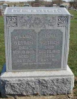 WETRICH, WILLIAM - Madison County, Iowa | WILLIAM WETRICH
