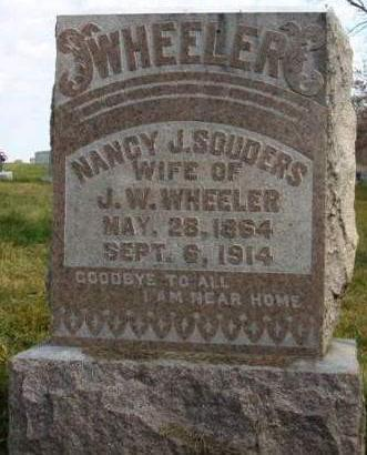 SOUDERS WHEELER, NANCY JANE - Madison County, Iowa | NANCY JANE SOUDERS WHEELER