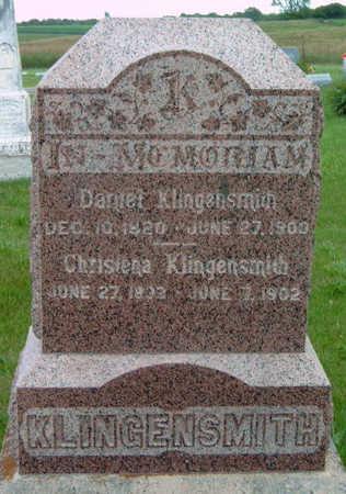 WHITE KLINGENSMITH, CHRISTINA - Madison County, Iowa   CHRISTINA WHITE KLINGENSMITH