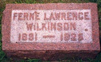 LAWRENCE WILKINSON, FERNE - Madison County, Iowa | FERNE LAWRENCE WILKINSON