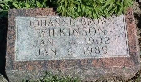 BROWN WILKINSON, JOHANNE - Madison County, Iowa | JOHANNE BROWN WILKINSON