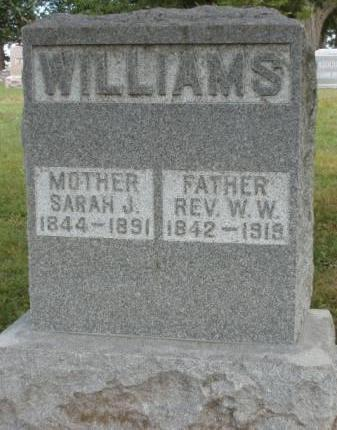 WILLIAMS, SARAH JANE - Madison County, Iowa | SARAH JANE WILLIAMS