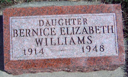 WILLIAMS, BERNICE ELIZABETH - Madison County, Iowa | BERNICE ELIZABETH WILLIAMS