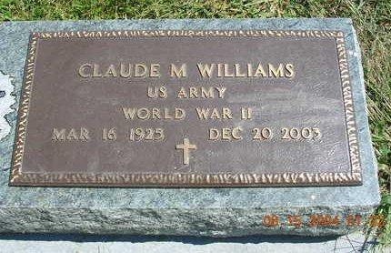 WILLIAMS, CLAUDE M. - Madison County, Iowa | CLAUDE M. WILLIAMS