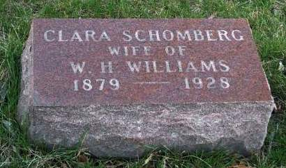 SCHOMBERT WILLIAMS, CLARA - Madison County, Iowa | CLARA SCHOMBERT WILLIAMS