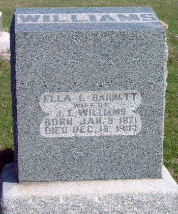 BARNETT WILLIAMS, ELLA L - Madison County, Iowa | ELLA L BARNETT WILLIAMS