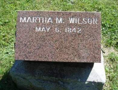 WILSON, MARTHA MARY - Madison County, Iowa | MARTHA MARY WILSON