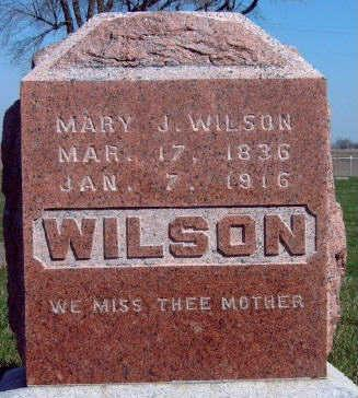 MENDENHALL WILSON, MARY JANE - Madison County, Iowa | MARY JANE MENDENHALL WILSON
