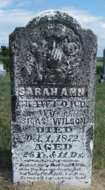 CRAWFORD WILSON, SARAH ANN - Madison County, Iowa | SARAH ANN CRAWFORD WILSON